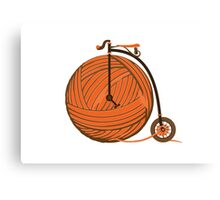 Orange Yarn Farthing Canvas Print