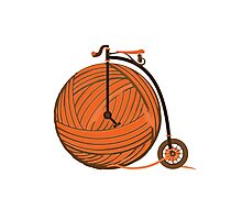Orange Yarn Farthing Photographic Print