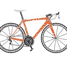 Typographic Anatomy of a Road Bike by jarodface