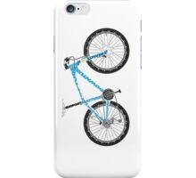 Typographical Anatomy of a Mountain Bike iPhone Case/Skin