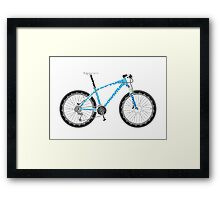 Typographical Anatomy of a Mountain Bike Framed Print