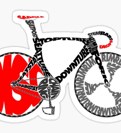 Typographic Anatomy of a Track Bike Sticker