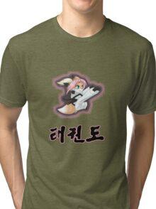 Chibi Zoe: Taekwon-do kick Tri-blend T-Shirt