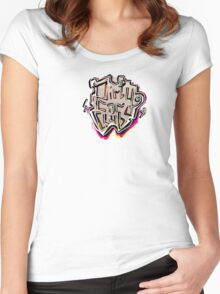 Dirty Car Club, grunge & neon style lettering Women's Fitted Scoop T-Shirt