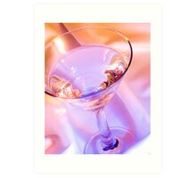 Colorful Martini Art Print