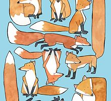 Foxes Collage by Bumble & Bristle