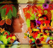 Feronia, goddess of the harvest, wildife and abundance (month of November) by Jane Neill-Hancock