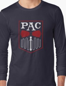PAC Logo - Red and White Long Sleeve T-Shirt