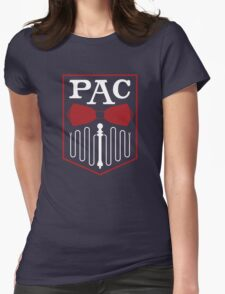 PAC Logo - Red and White Womens Fitted T-Shirt