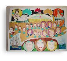""" Advance Australia : Love and Peace Canvas Print"