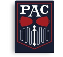 PAC Logo - Red and White Canvas Print
