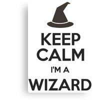 Keep Calm I'm A Wizard Canvas Print