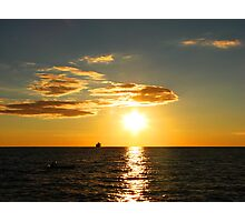 Sundown on Lake Michigan Photographic Print