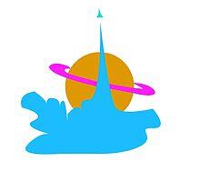 planet cute cloud by lizzielizard