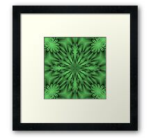 Green Abstract Flowers Framed Print