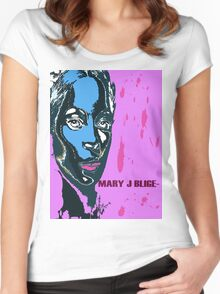 mary j blige Women's Fitted Scoop T-Shirt