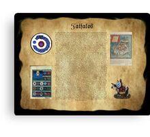 Taifalos Heraldic Wall Banner Canvas Print
