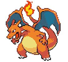 CHARIZARD PIXEL Photographic Print