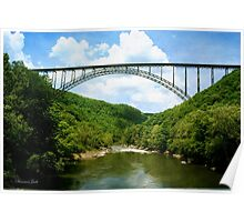 The Bridge Over New River Gorge Poster