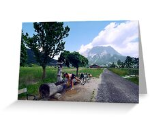 Road to Zugspitze Greeting Card