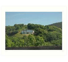 A house on a hill Art Print