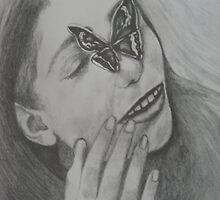 Girl and Butterfly by Theodora