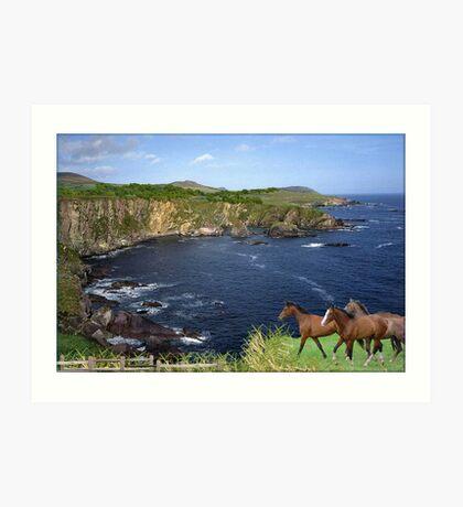 896-Green Cliffs Art Print