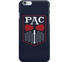 PAC Logo - Red and White iPhone Case/Skin