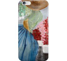 Mme at the Flower Market iPhone Case/Skin