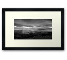 Sun Shining on the Righteous? Framed Print