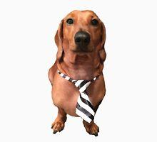 Dachshund Sausage Dog wearing tie Unisex T-Shirt