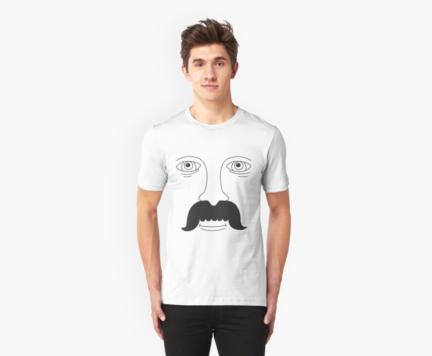 Moustache Man by pigeonboy