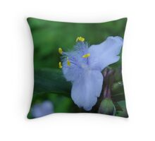Spiderwort Throw Pillow