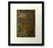 Medieval Book Cover Framed Print