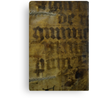 Medieval Book Cover Canvas Print