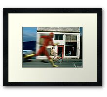 Flashing Framed Print