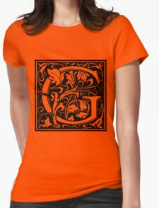 William Morris Renaissance Style Cloister Alphabet Letter G Womens Fitted T-Shirt