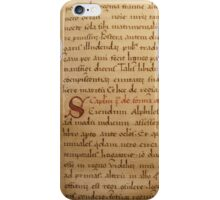 Medieval Manuscript iPhone Case/Skin