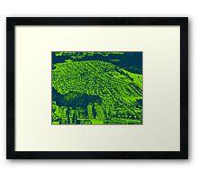 blue suburbia Framed Print