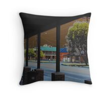 Dust storm approaching Cue Throw Pillow