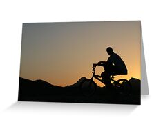 Cycler silhouette Greeting Card