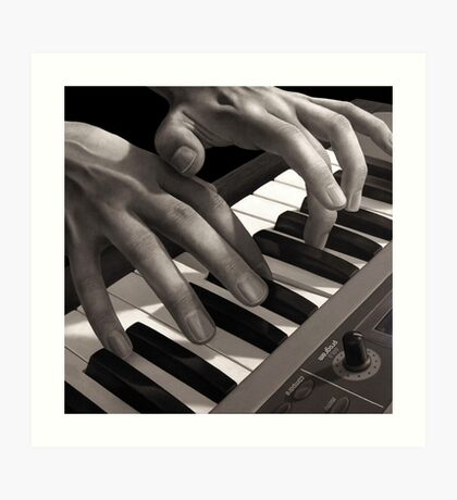 Soft Pads, Keyboard Player Oil Painting Art Print