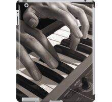 Soft Pads, Keyboard Player Oil Painting iPad Case/Skin