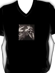 Warn Wind, Flute Player Oil Painting T-Shirt