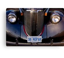 1938 Chrysler Mopar Canvas Print
