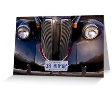 1938 Chrysler Mopar Greeting Card