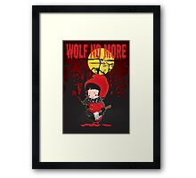 Wolf no more.Little Red Riding Hood v.2 Framed Print