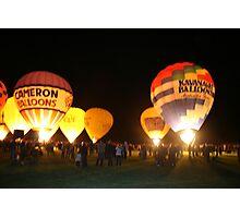 Renmark Balloon Festival Night Glow Photographic Print