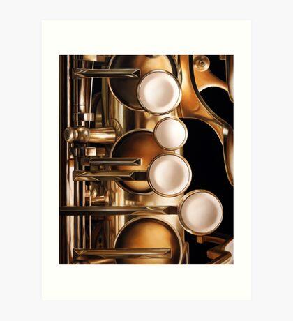 Four Keys, Saxophone Painting Art Print
