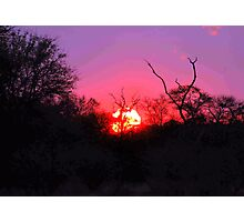 TYPICAL AFRICAN SUNSET Photographic Print